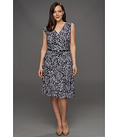 Anne Klein Plus - Plus Size Abstract Dot Print Dress
