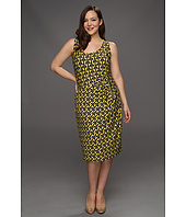 Anne Klein Plus - Plus Size Geo Stripe Print Dress