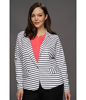 Anne Klein Plus - Plus Size Ponte Striped Blazer