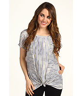 DKNY Jeans - Painted Stripe Tie Hem Top