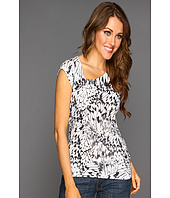 DKNY Jeans - Allover Print Cap Sleeve Top