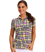 DKNY Golf - Window Pane Short Sleeve Top
