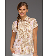 DKNY Golf - Animal Print Short Sleeve Top
