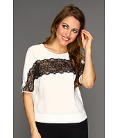 BCBGMAXAZRIA - Edith Lace Stripe Top