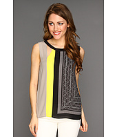 BCBGMAXAZRIA - Elicia Blocked Sleeveless Top