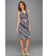 Anne Klein Petite - Petite Bias Stripe Print Dress