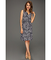 Anne Klein Petite - Petite Abstract Dot Print Dress