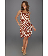 Anne Klein Petite - Animal Stripe Sarong Dress