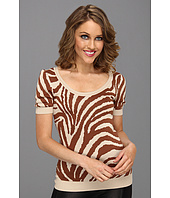 Anne Klein Petite - Petite Animal Intarsia Scoop Neck