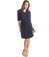 Donna Morgan - Shirt Dress With Stitched Down Tucks