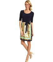 Donna Morgan - Nicky Scarf Combo Print Dress