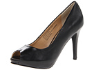 rsvp Spencer Peep Toe Pump (Black Leather)