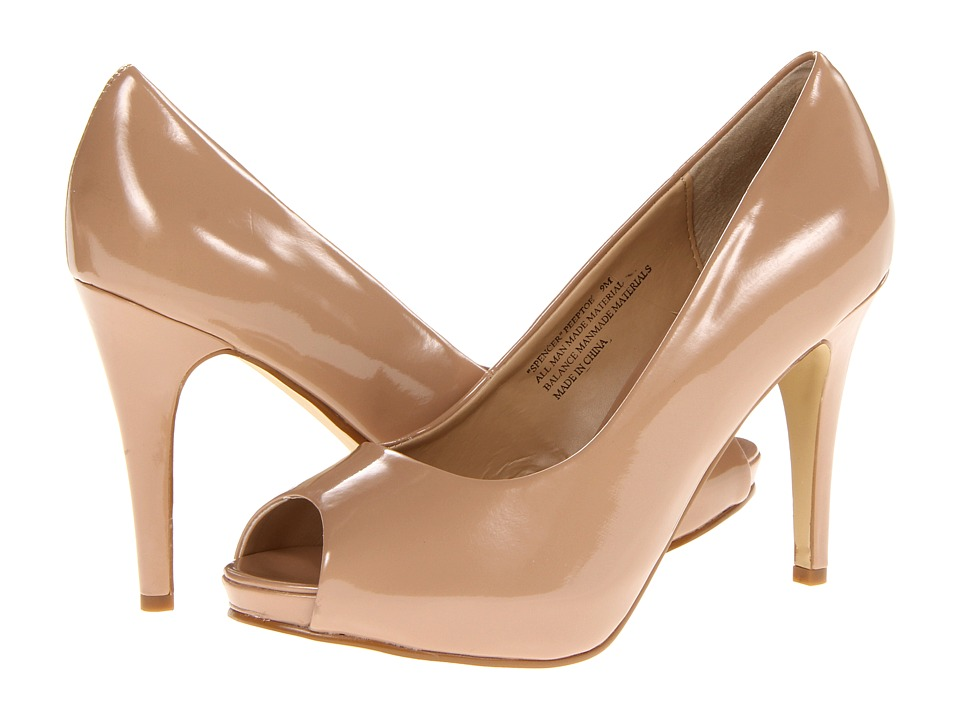rsvp Spencer Peep Toe Pump (Nude Patent) High Heels