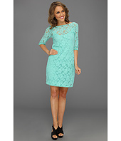 Three Dots - Lace 34/ Sleeve Tunic Dress w/ Jersey Colette Cami Slip