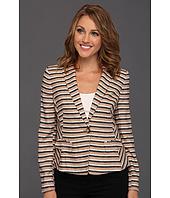 Anne Klein Petite - Petite Linen Stripe Blazer