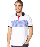 Nautica - S/S Stripe Pieced Polo
