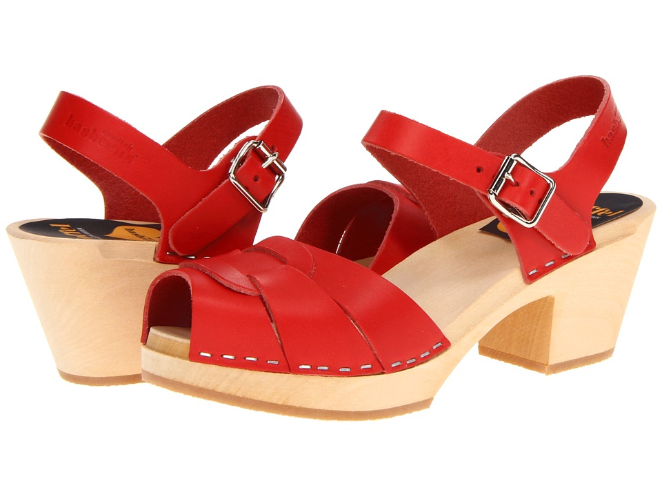 Swedish Hasbeens Peep Toe High (Red) Women