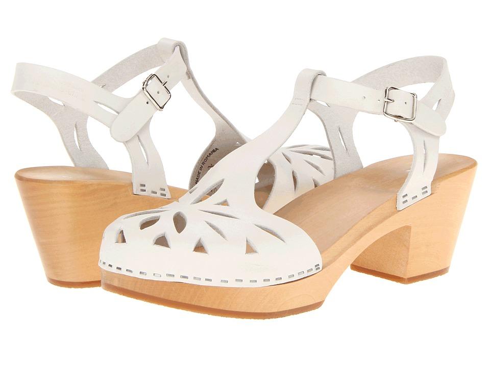 Swedish Hasbeens Lacy Sandal (White) High Heels