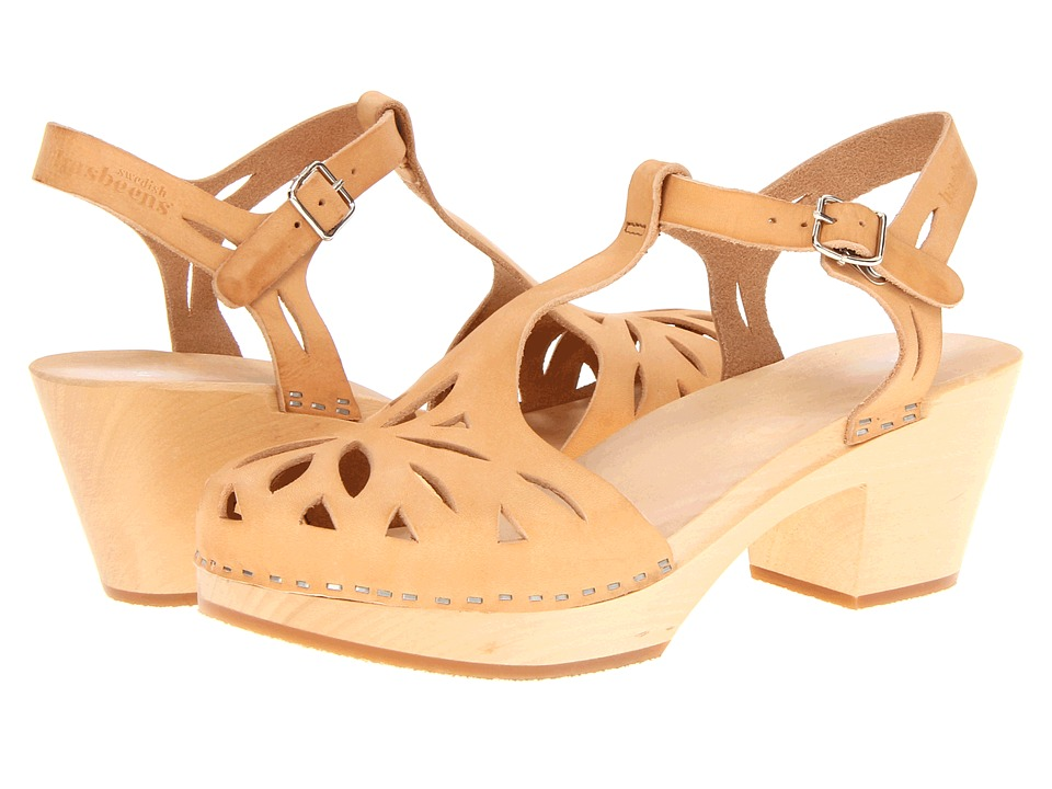 Swedish Hasbeens - Lacy Sandal (Nature) High Heels
