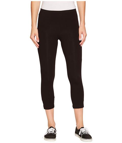 HUE - Cotton Capri Legging (Black) Women's Capri