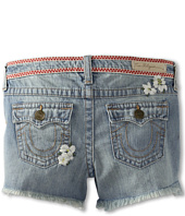 True Religion Kids - Girls' Flower Child Dolly Cutoff in Madame Mystery (Toddler/Little Kids/Big Kids)