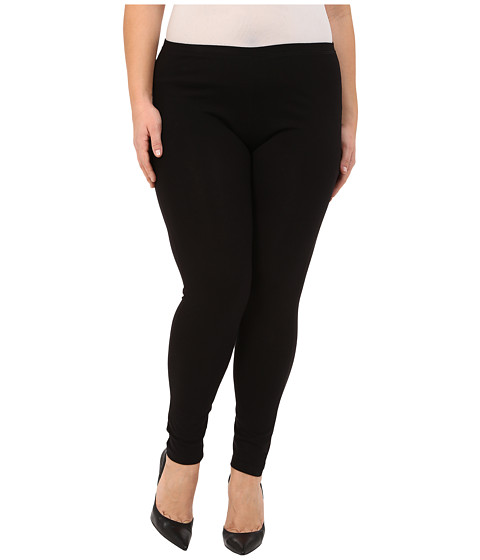 HUE - Plus Size Cotton Legging (Black) - Apparel
