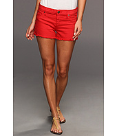Hudson - Amber Raw Edge Hem Short in Red Dahlia w/ Studs
