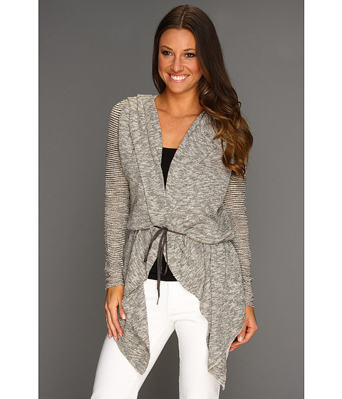 Free People - For Keeps Cardigan (Salt And Pepper Combo) - Apparel