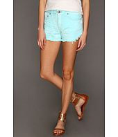 Free People - Dolphin Hem Colored Denim Cutoff Short