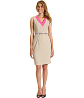Calvin Klein - V-Neck Belted Career Dress