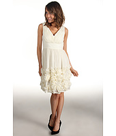 Donna Morgan - Ruched Bodice Chiffon Dress With Rosettes