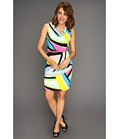 Calvin Klein - Printed Cowl Neck Matte Jersey Dress
