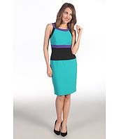Calvin Klein - Tri-Toned Color Block Cut in Sheath