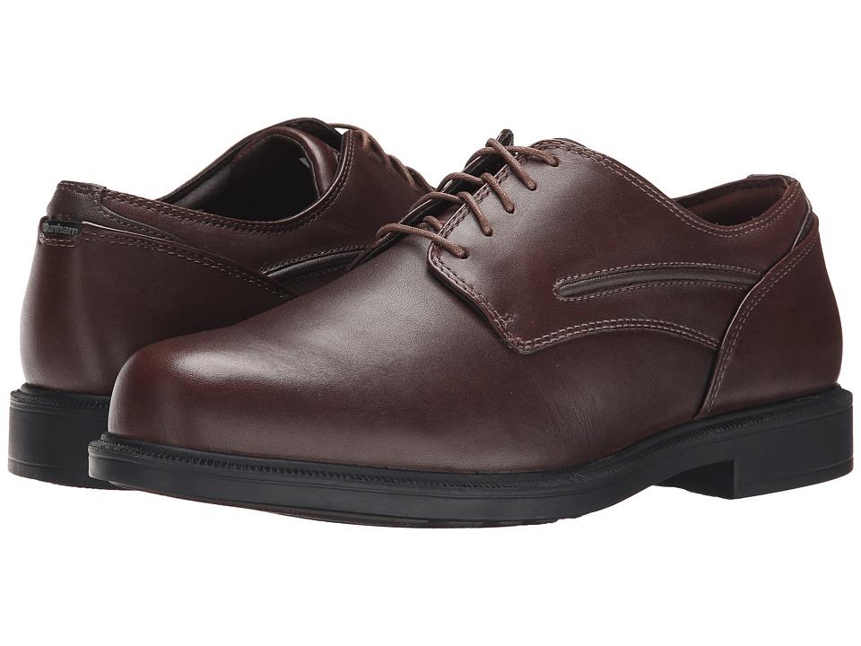 Dunham Burlington Smooth Brown Mens Plain Toe Shoes