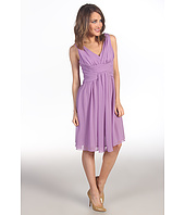 Suzi Chin for Maggy Boutique - Sleeveless V-Neck Dress With Ruching