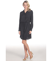 Suzi Chin for Maggy Boutique - L/S Shirtdress w/ Laser Cut Hem