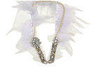 Ayana Designs - Georgina Necklace (Ivory Feather/Crystal) - Jewelry