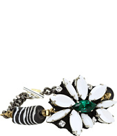 Ayana Designs - Black & White Crystal Flower Bracelet