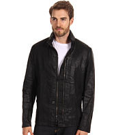 John Varvatos Collection - Double Zip Coated Linen Jacket