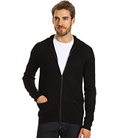 John Varvatos Collection - 2-Way Zip Hooded Sweater