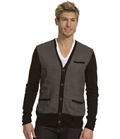 John Varvatos Collection - Linen Cardigan w/ Paneled Front