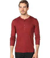 John Varvatos Collection - Mixed Rib L/S Henley