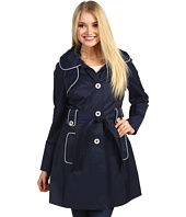 Jessica Simpson - Hooded Trench w/ Contrast Piping