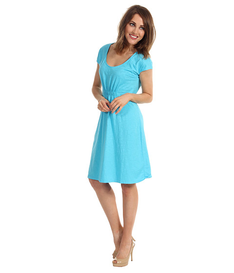 Tommy Bahama - Arden Jersey Cap Sleeve Dress (Blue Atoll) - Apparel