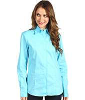 Roper - Long Sleeve Cotton Poplin Fitted Blouse