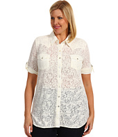 Roper - Hot House Blooms Rose Floral Burnout