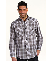 Roper - Black & Grey Plaid with Embroidery on Back Yoke