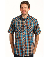 Roper - Brown & Turquoise Basic Western Plaid