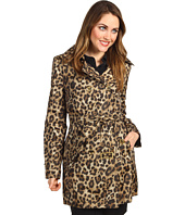 MICHAEL Michael Kors - Double-Breasted Leopard Print Trench