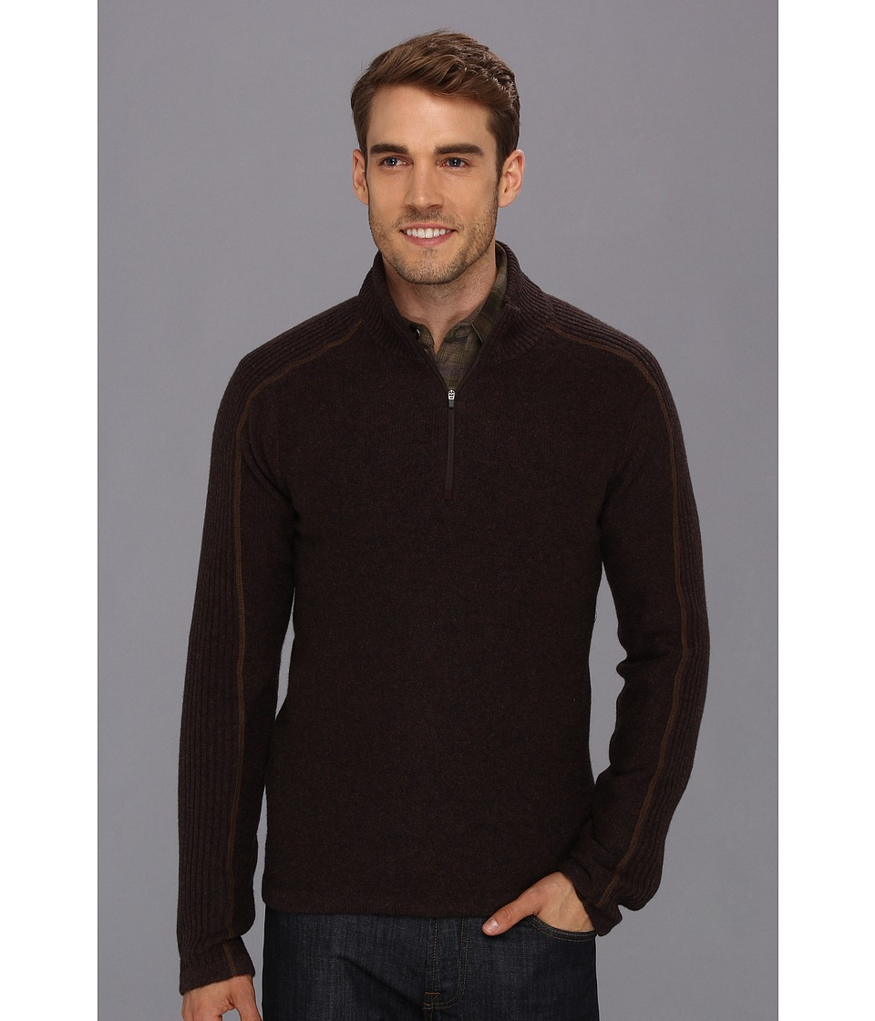 Royal Robbins Fireside Wool 1/4 Zip Sweater (Petrified Oak) Men